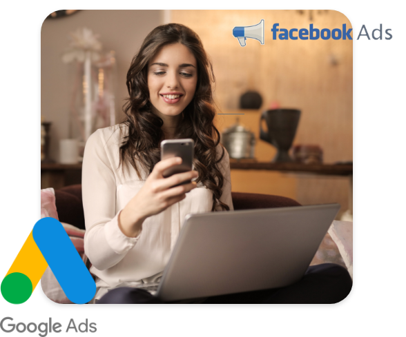 Generate leads from Google and Facebook.