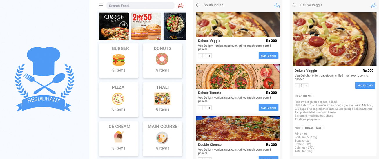 Restaurant Menu Mobile Application development
